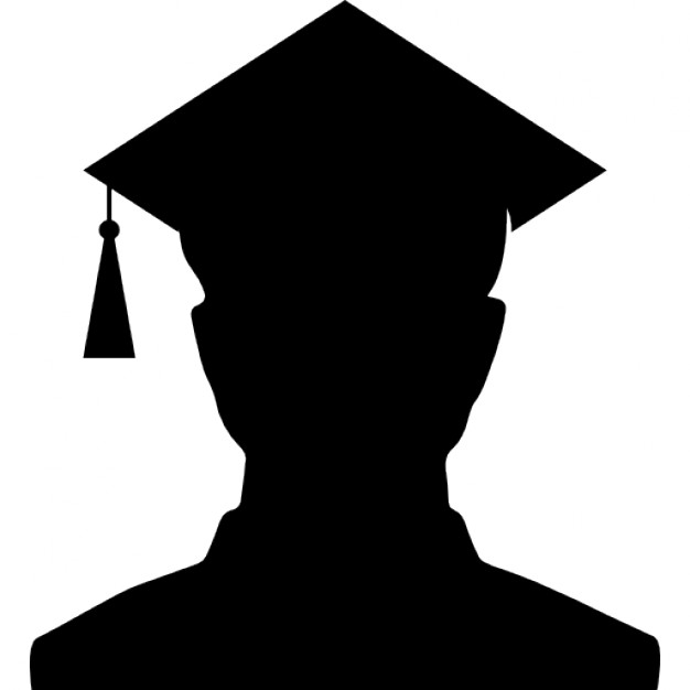 626x626 Male University Graduate Silhouette With The Cap Icons Free Download