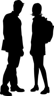 225x400 Silhouette Students By Clipart Panda