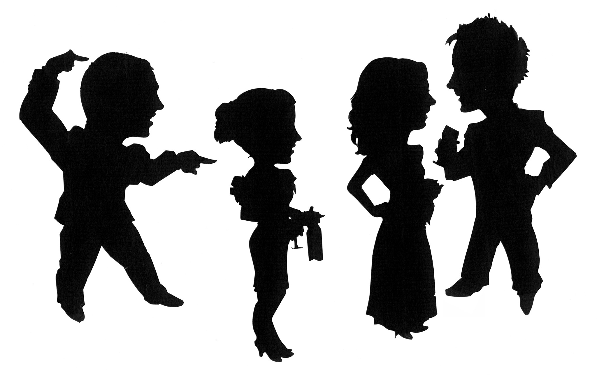 2048x1312 Student Caricature Silhouettes