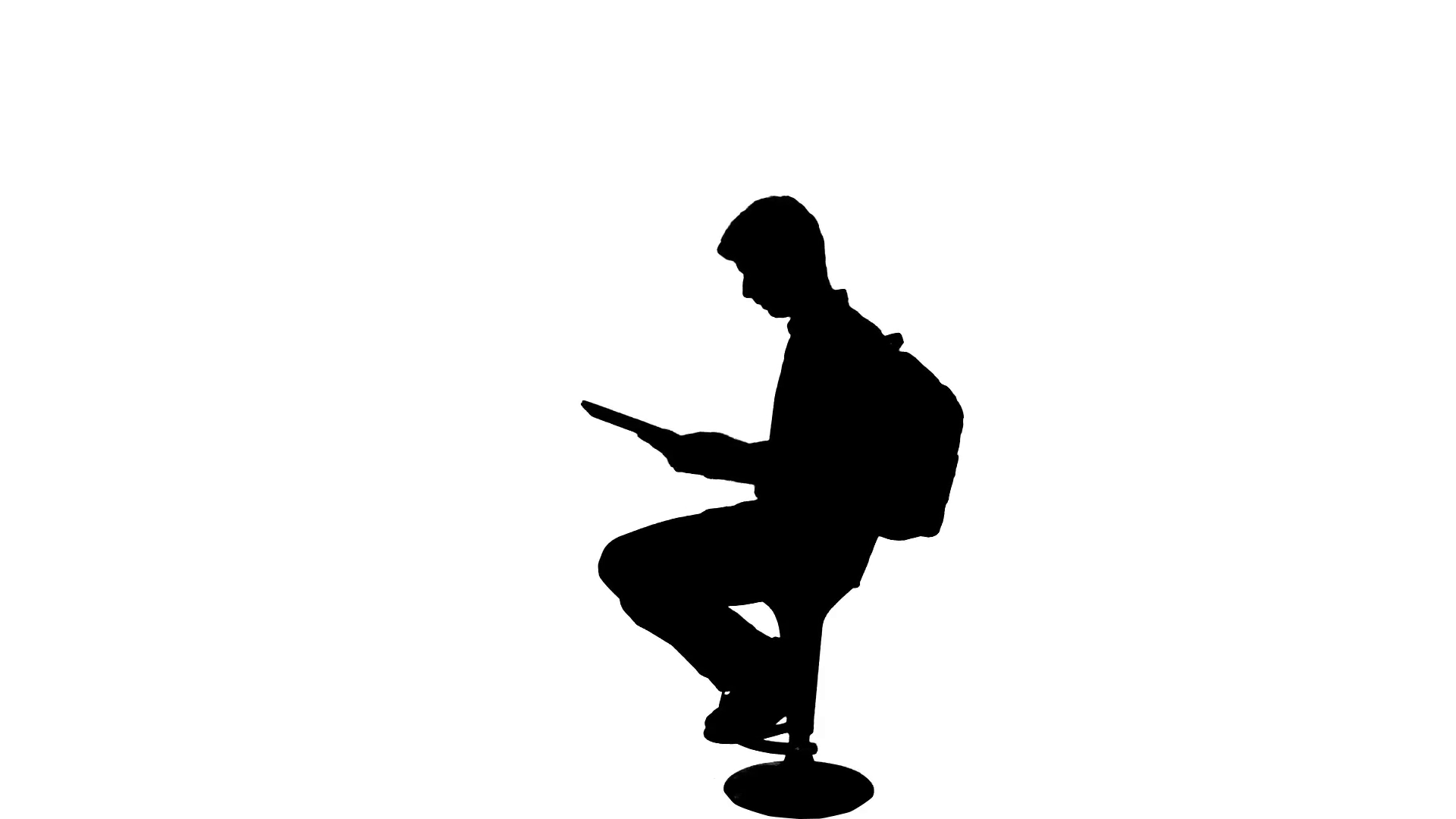 1920x1080 University Student Exams Reading Book Silhouette