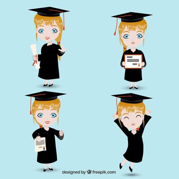 626x626 Graduate Girl Vector Free Download