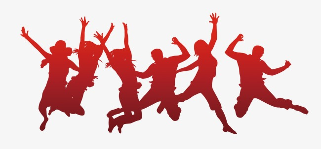 650x303 Jumping Silhouette Figures, Painted Figures, Students That Year