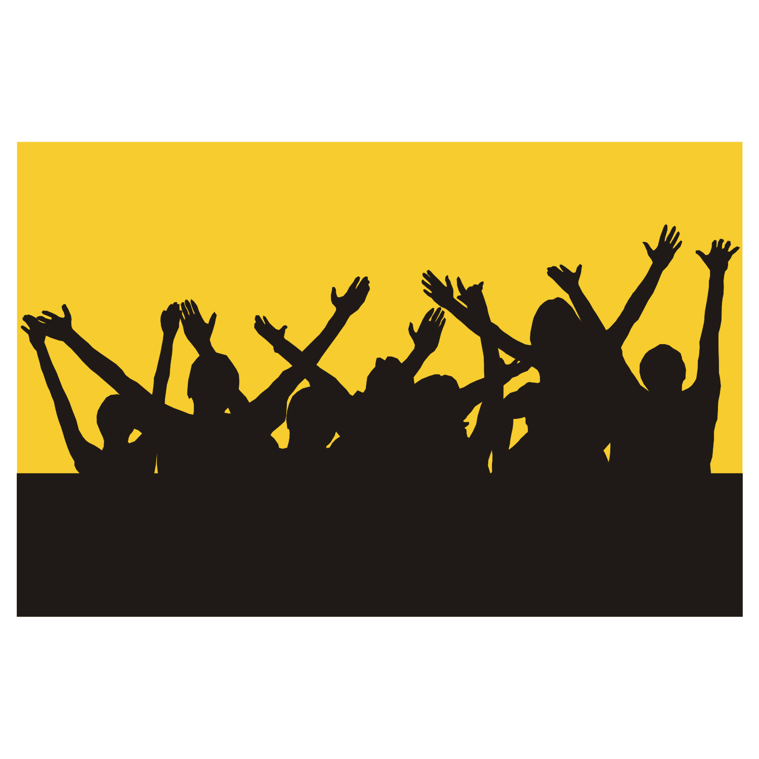 1500x1500 Vector For Free Use Hands Up Silhouettes