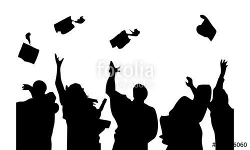 500x300 Graduation Students Silhouettes Stock Image And Royalty Free