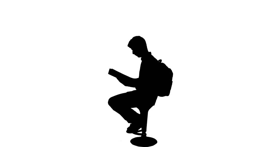 852x480 Studying Exams Reading Book Silhouette
