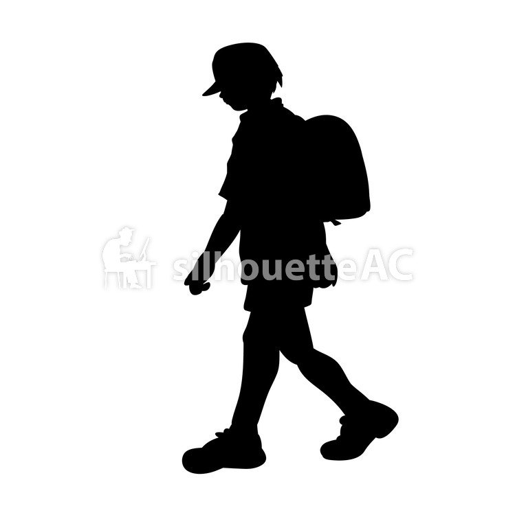 749x750 Free Silhouette Vector An Illustration, Kids