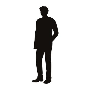 340x340 Free Silhouette Vector Icon, An Illustration