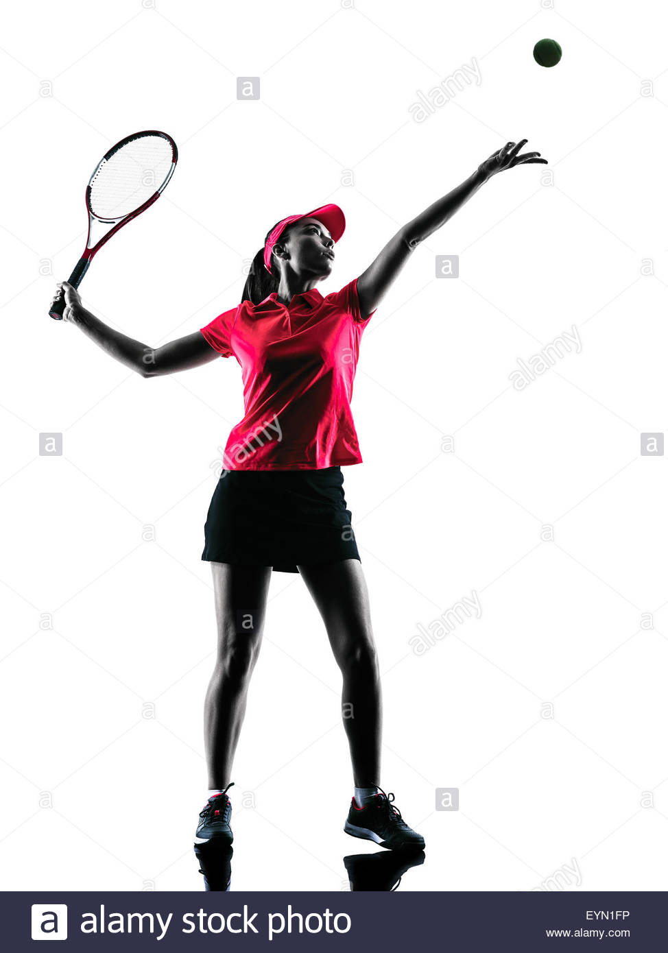 974x1390e Woman Tennis Player Sadness In Studio Silhouette Isolated