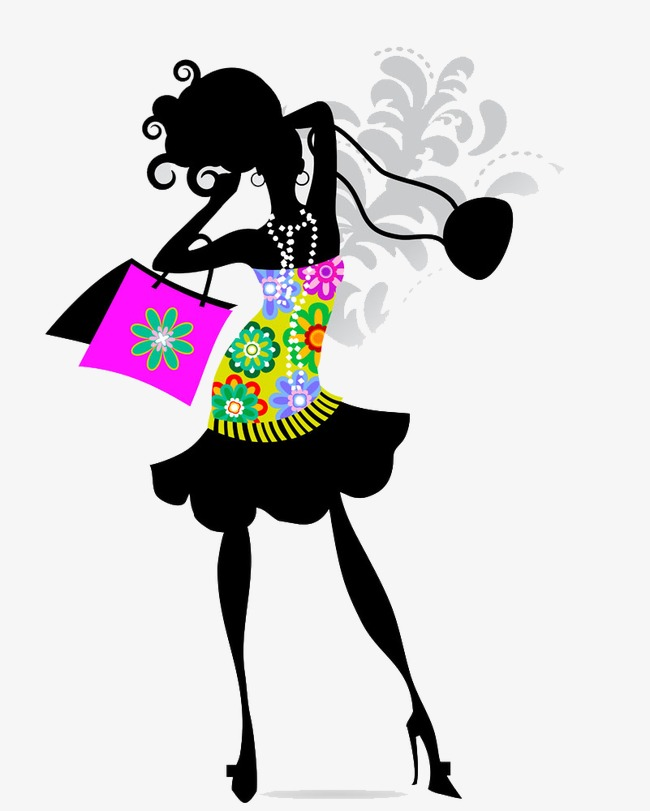650x811 Woman Silhouette, Fashion Woman, Hand Painted Woman Png Image