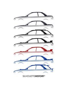 236x314 Six Stars Silhouettehistory Silhouettes Of The Subaru Impreza Wrx