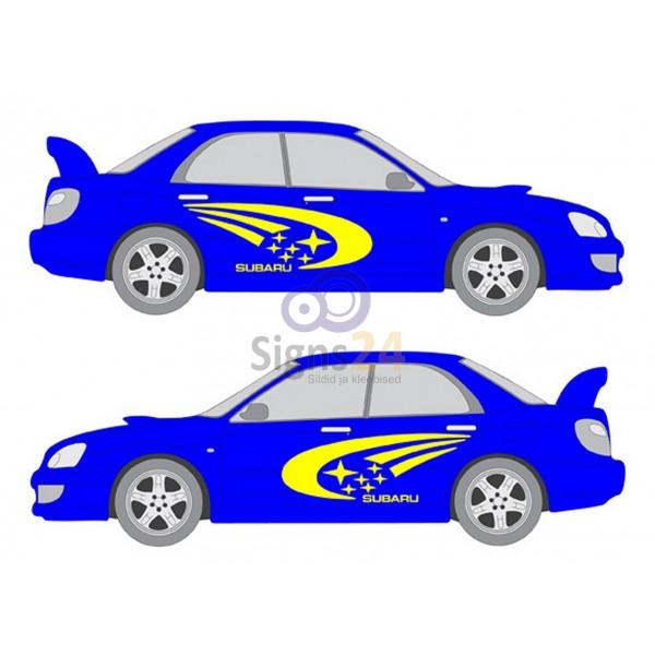 600x600 Subaru Impreza Wrx Rally Replica Side Decals
