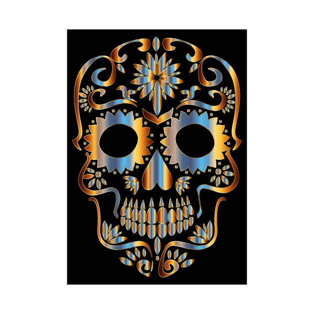 630x630 Limited Edition. Exclusive Chromatic Sugar Skull Silhouette 2