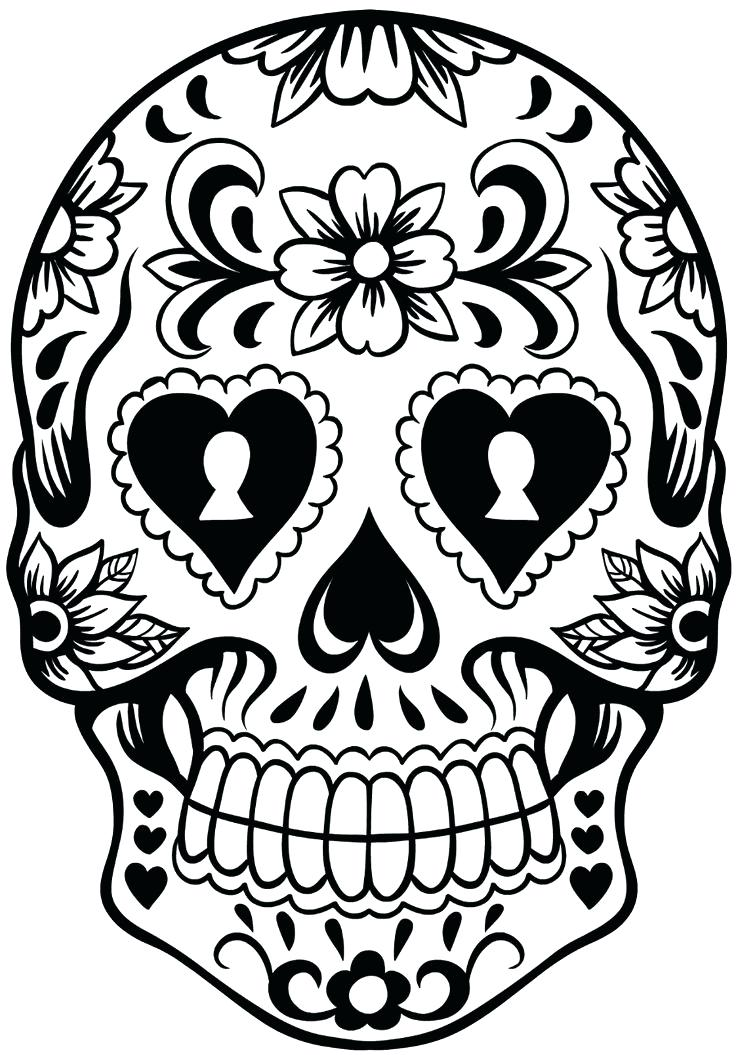 736x1055 Skull Template Printable Invitation Template Best Skull Stencil