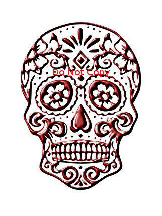 322x430 Sugar Skull Svg, Red Sugar Skull Svg, Svg File For Cricut, File