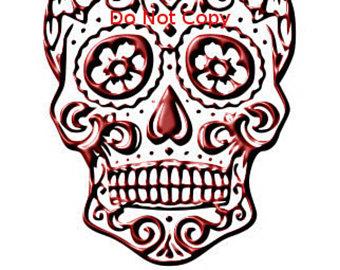 340x270 Sugar Skull Svg Pinkblue Sugar Skull Svg Svg File