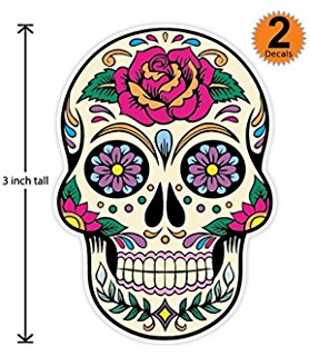 278x320 Sticko Halloween Silhouette Sugar Skull Stickers