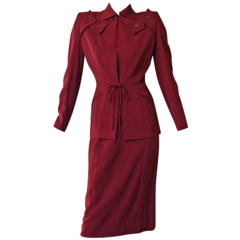 768x768 Adrian 1940's Iconic Silhouette Suit Silhouette, 1940s And Vintage