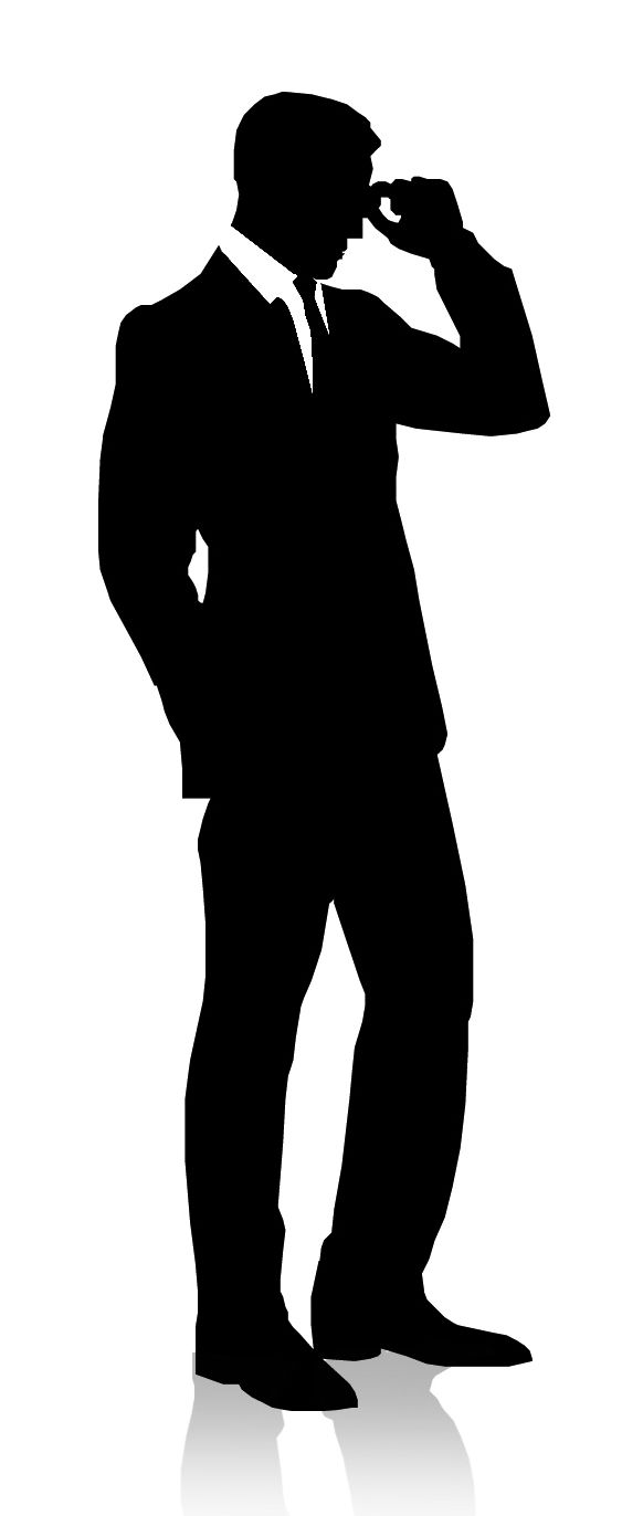 582x1372 Silhouette Businessman Man In Suit With Tie On A White Background