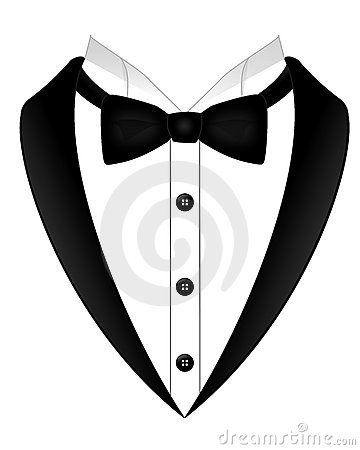 360x450 Suit And Bow Tie Clipart