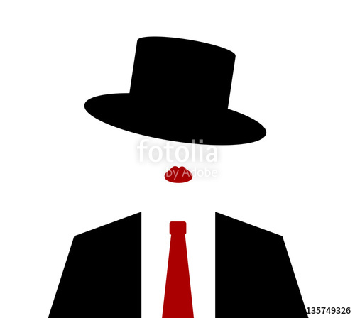 500x448 Woman Wearing Suit And Tie With Top Hat Stock Image And Royalty
