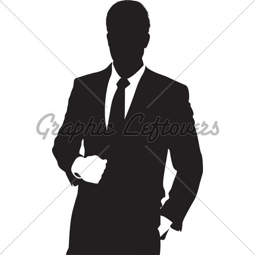 500x500 Men Suit Silhouette Clipart