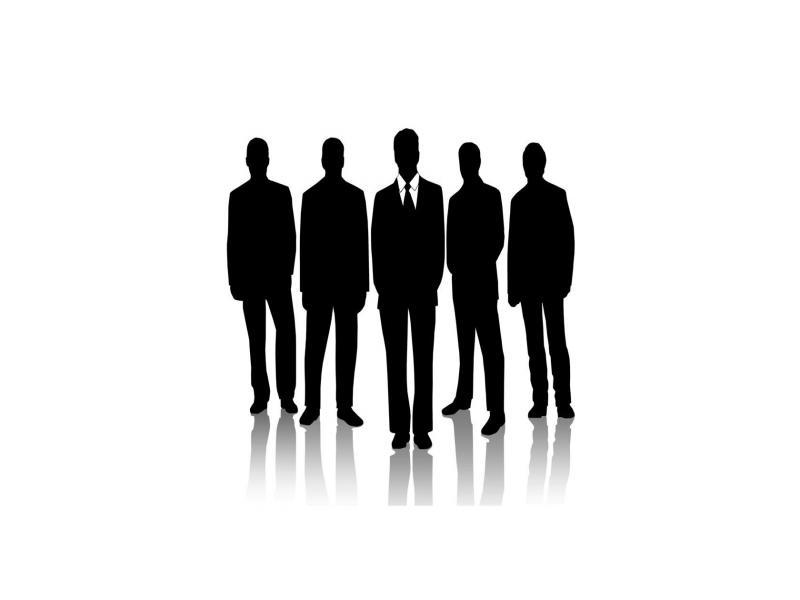 800x600 Suit Silhouette Business Backgrounds Presnetation