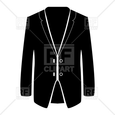 400x400 Business Suit Silhouette Royalty Free Vector Clip Art Image