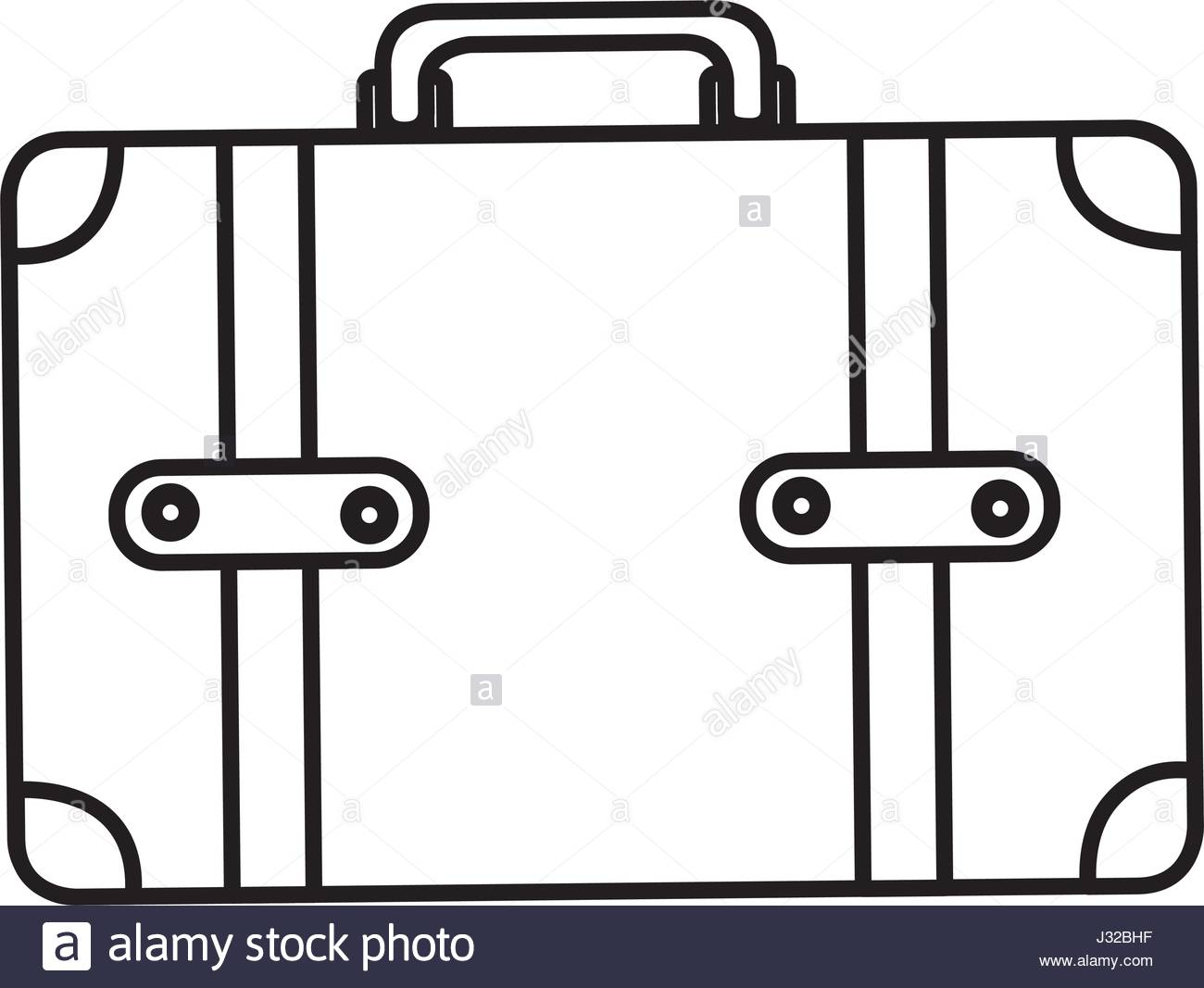 1300x1067 Monochrome Silhouette Of Leather Suitcase Stock Vector Art