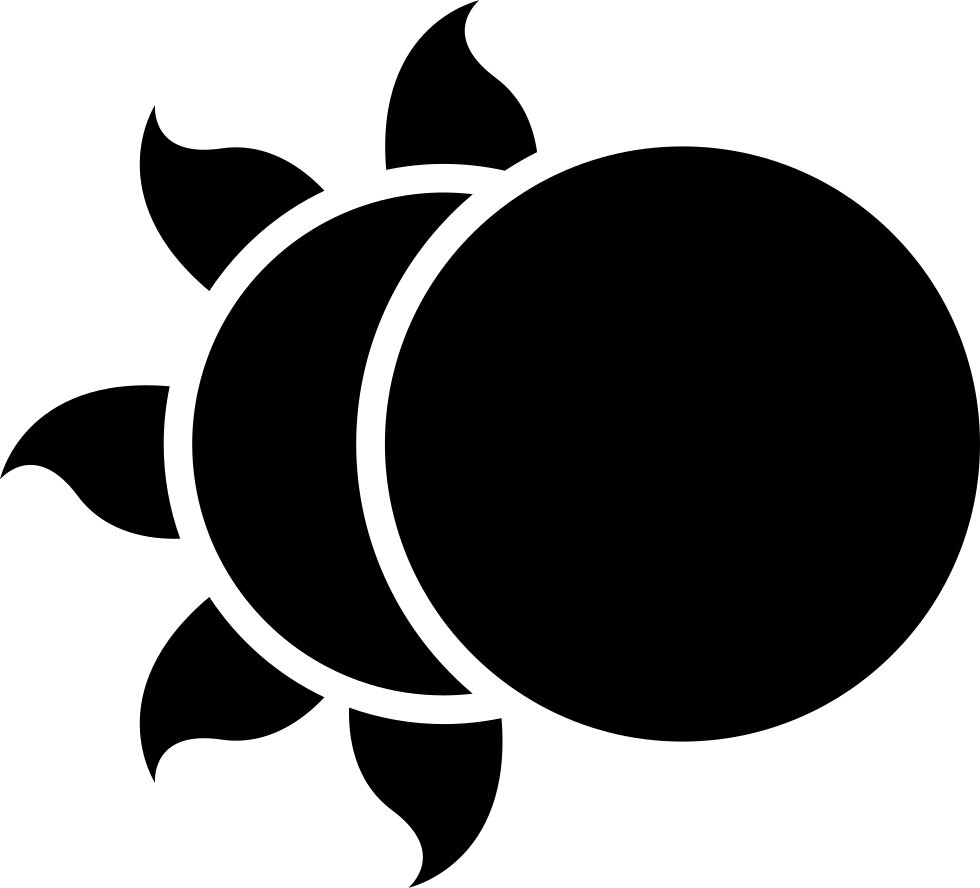 980x888 Moon Partially Covering The Sun Svg Png Icon Free Download ( 7166