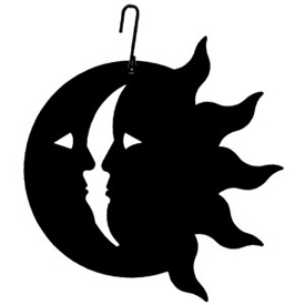 275x275 Sun Amp Moon Silhouette Silhouettes, Wrought Iron And Moon