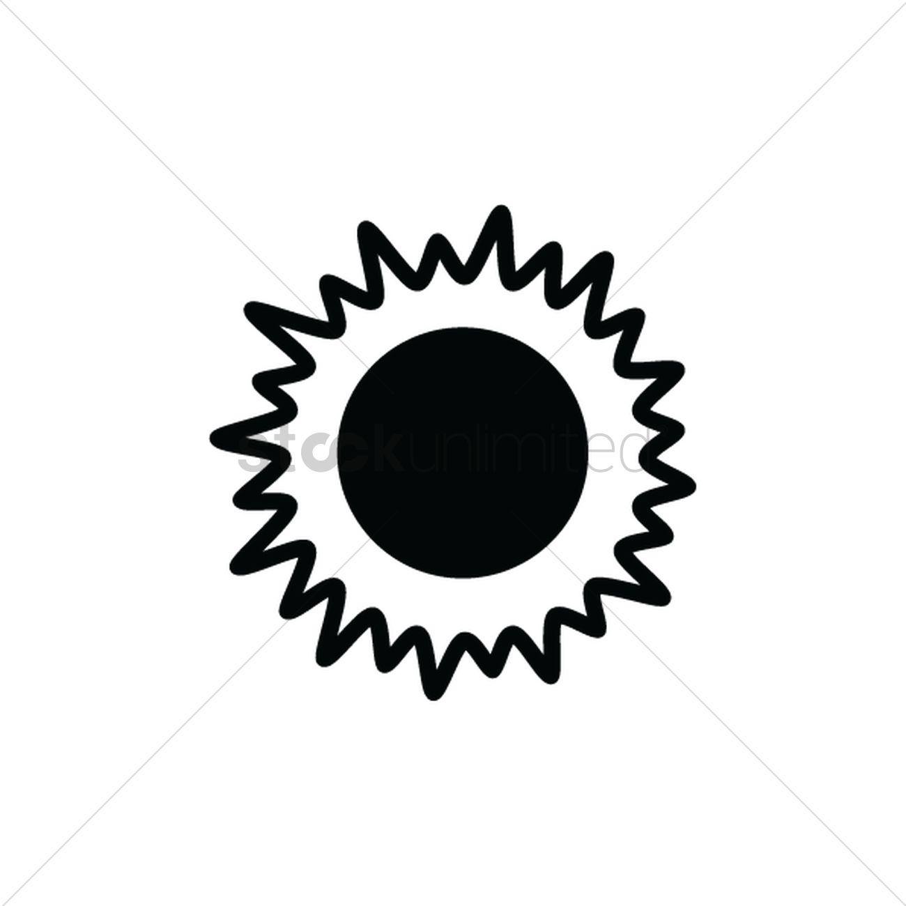 1300x1300 Sun Silhouette Vector Image