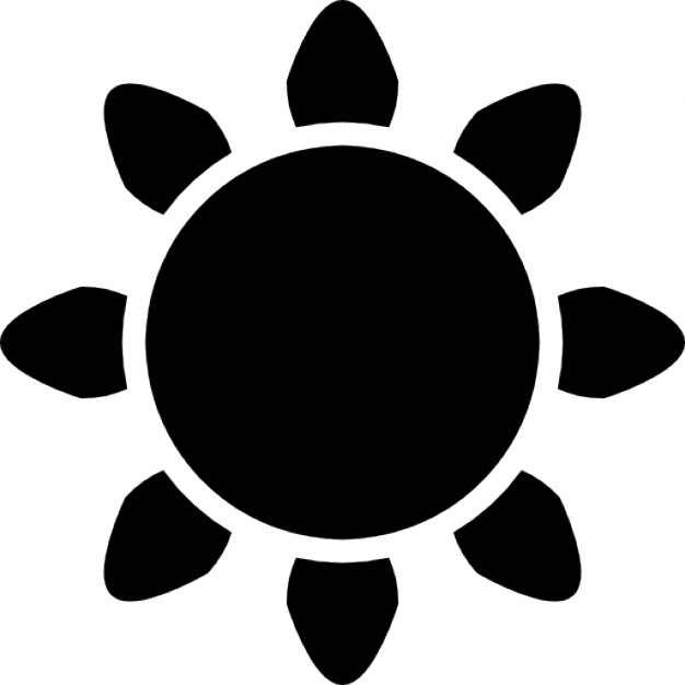626x626 Sun With Rays Silhouette Icons Free Download