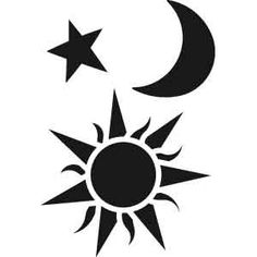 236x236 Moon Stars Clipart Black And White Silhouette