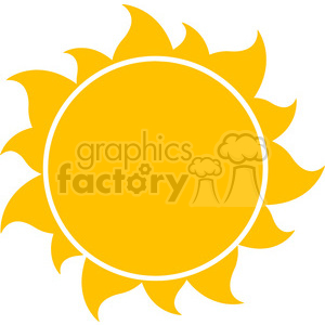 300x300 Royalty Free 10258 Yellow Silhouette Sun Vector Illustration