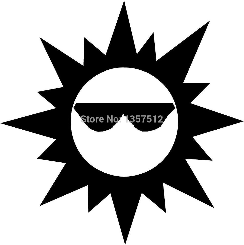 1000x1002 Sun Glasses Vinyl Decal Car Window Laptop Sticker Funny Jdm Boat