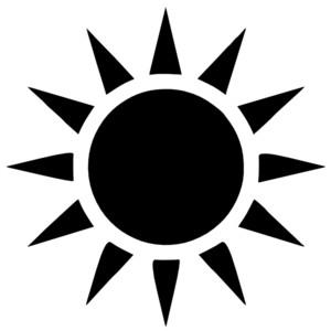 300x300 Sun Silhouette Clipart