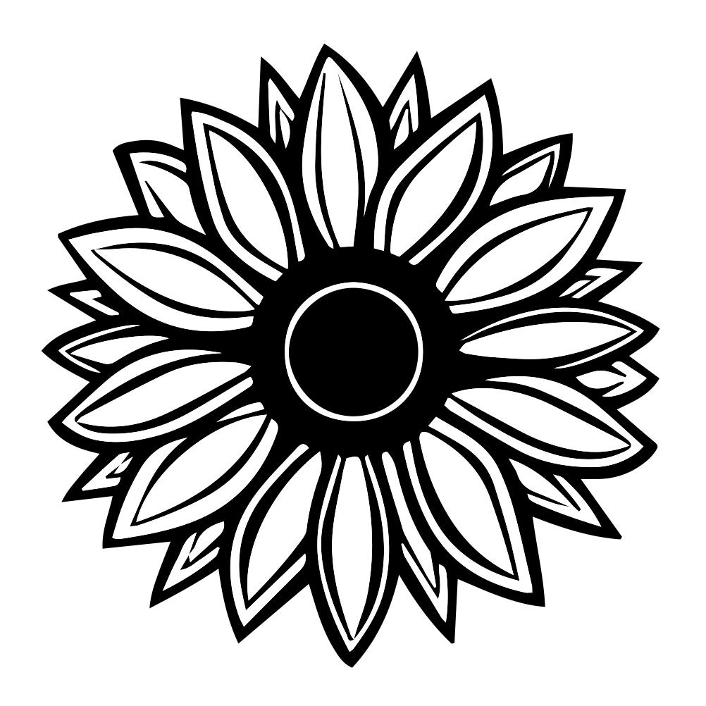 1002x1002 Sunflower Silhouette Vinyl Sticker Car Decal