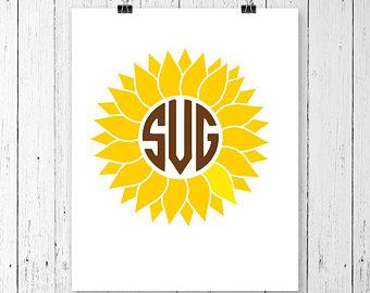 340x270 Sunflower Silhouette Etsy