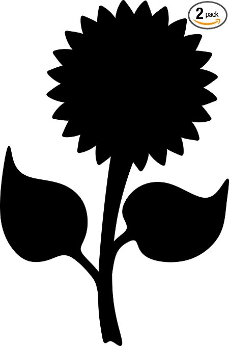 450x679 Angdest Sunflower Silhouette (Black) Waterproof Vinyl