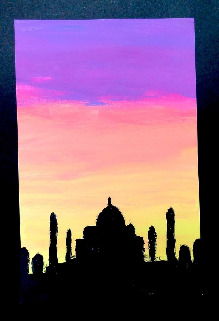 Sunset Silhouette Art