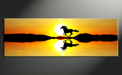 400x246 1 Piece Canvas Scenery Sunrise Yellow Wall Art