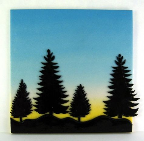 474x465 Tiny Canvas Polymer Clay Tutorial Sunset Silhouette Scene Birds