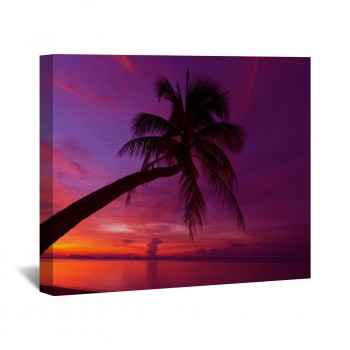 350x350 Tropical Sunset Wall Art Tropical Sunset Wall Murals Custom Sizes