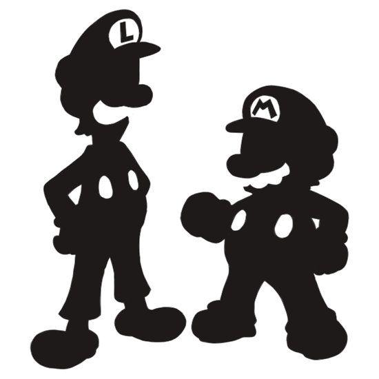 Super Mario Silhouette