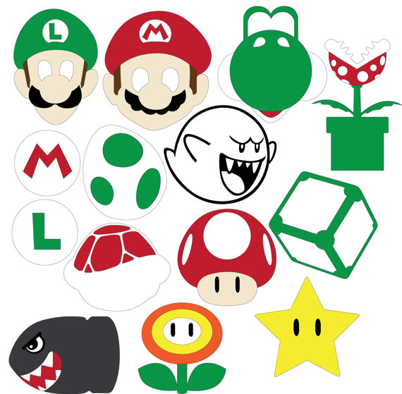570x559 Mario Party (Svg Amp Dxf Files) Filing, Cricut And Silhouettes