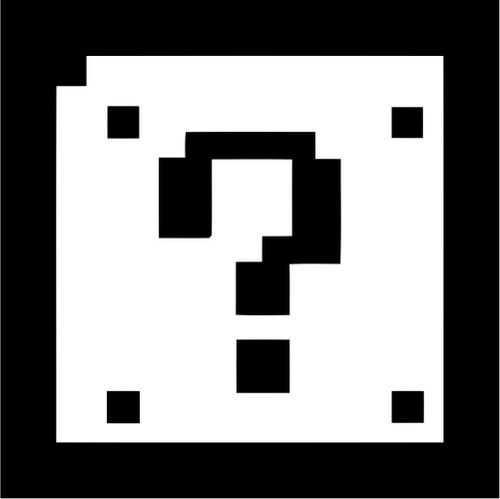 500x499 8 Bit Mario Bros Question Block.jpg Vinilos Decorativos