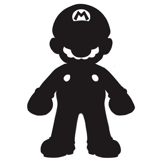 550x550 Silhouette Mario
