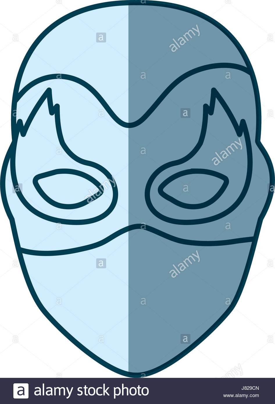 946x1390 Blue Silhouette With Face Of Female Superhero With Mask And Flame