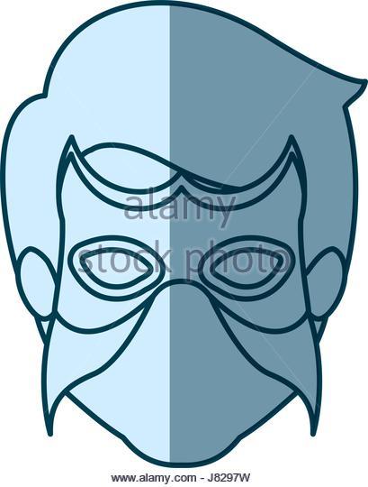 409x540 Blue Silhouette Face Man Superhero Stock Photos Amp Blue Silhouette