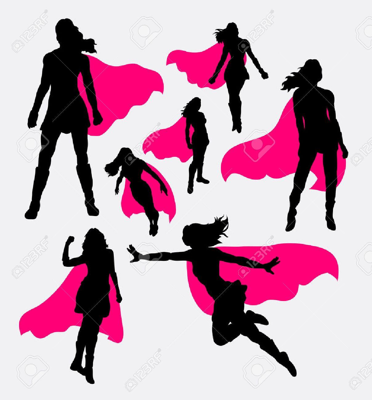 1209x1300 44344832 Female Superhero Silhouettes Fine Silhouette Clip Art